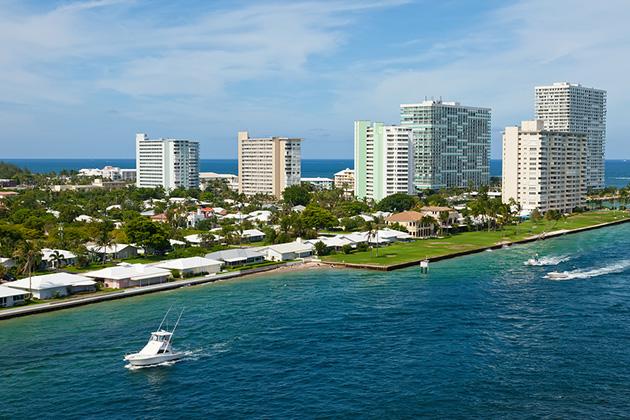 Entrance To Port Everglades, Fort Lauderdale, Florida