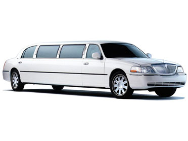 White Lincoln Town Car